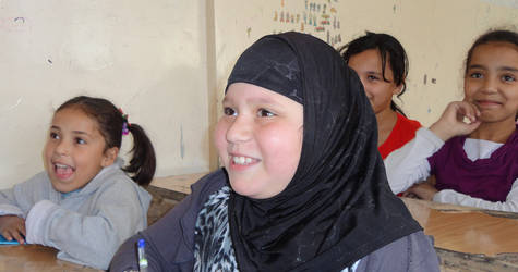 Qamar returns to school after attending catch-up classes at the 2014 UNRWA Summer Learning Programme. © 2015 UNRWA Photo