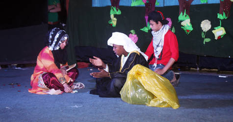 On 22 September 2015, 41 young Palestine refugees from UNRWA collective shelters put on and performed their own play, 'Reach Your Dreams'. In partnership with UNICEF, UNRWA had run a theater workshop for young Palestine refugees living in collective shelters in Syria. © 2015 UNRWA Photo