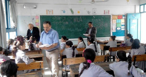 UNRWA students are assessed as part of the Monitoring of Learning Achievement (MLA) exercise. © 2016 UNRWA Photo