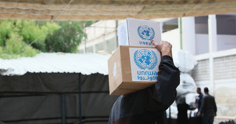 UNRWA food distribution, Alliance distribution centre, Damascus, Syria © 2016 UNRWA Photo by Taghrid Mohammad