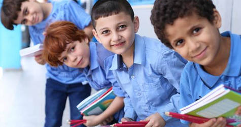 UNRWA students in Gaza receive school supplies. © 2016 UNRWA Photo