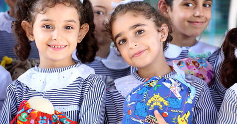 UNRWA distributed 'Dream Bags' to 6,550 Palestine refugee students in the Gaza Strip, thanks to a generous contribution from RKK, a Japanese organization. © 2016 UNRWA Photo by Khalil Adwan