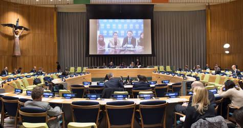 منظر عام للاجتماع الأول للجنة المخصصة للدورة الحادية والسبعين للجمعية العامة لإعلان التبرعات للأونروا. صور الأمم المتحدة / إسكندر دبيبي