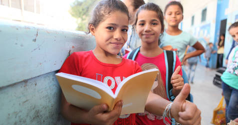 Students go back to school in Alliance, Jaramana camp, Syria. © 2016 UNRWA Photo by Taghrid Mohammad