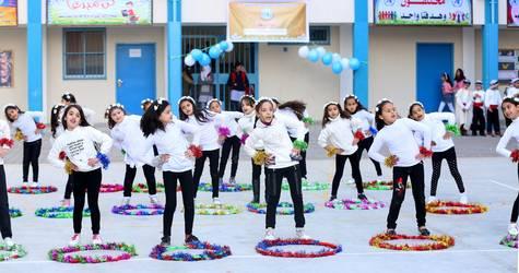 Recreational activity at UNRWA school © 2018 UNRWA Photo by Khalil Adwan.