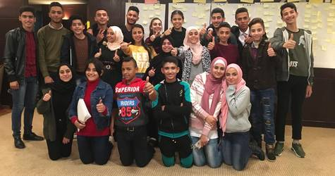 Twenty-two UNRWA students are elected to represent their schools in the Agency-wide UNRWA school parliament. © 2018 UNRWA