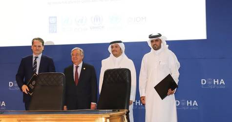 Landmark Multiyear Agreement signed between the Qatar Fund for Development and UNRWA