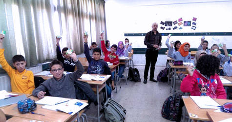 Health awareness raising workshop marking Global Hand Washing Day, October 2014. © 2014 UNRWA Photo