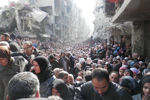 Rama Street Damascus, January 2014 © UNRWA Archives