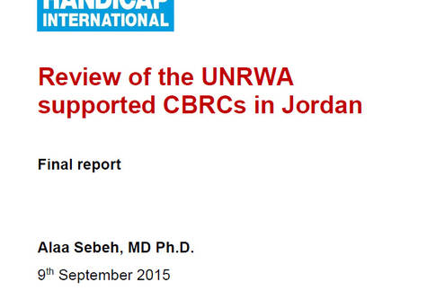 Decentralized review of support to Community-based Rehabilitation Centres in Jordan