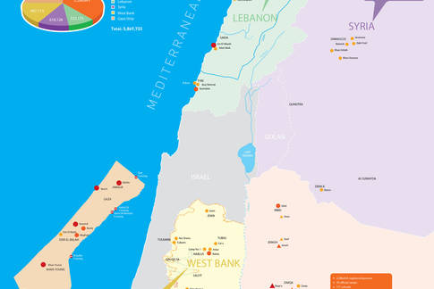 UNRWA Fields of Operations Map 2017