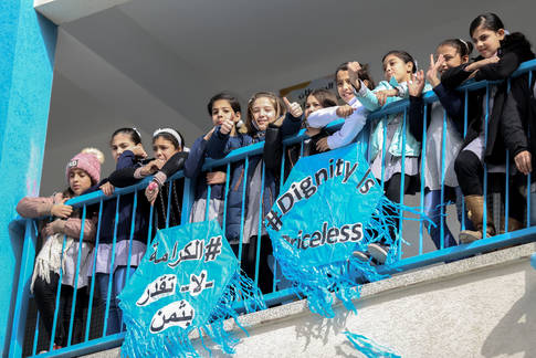 UNRWA Launches Global Fundraising Campaign #DignityIsPriceless in Gaza. © 2018 UNRWA Photo Rushdi Al Saraj