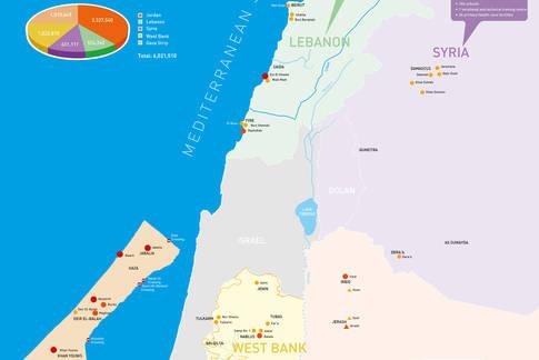 UNRWA FIELDS OF OPERATIONS MAP 2018