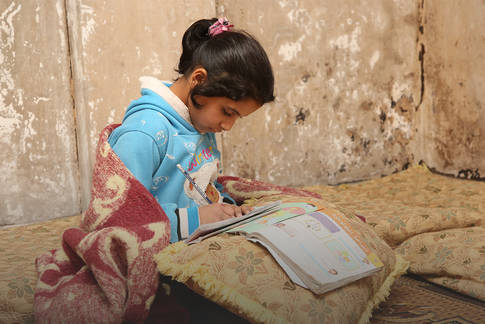 Palestine refugees are adamant that their education continue, despite the challenges, conflict and distress they face, Dera'a camp in Syria. © 2019 UNRWA Photo