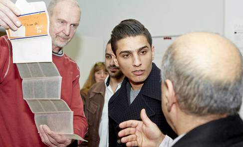 """Singer and UNRWA Goodwill Ambassador Mohammed Assaf Visits the Danish Royal Library"