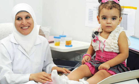 UNRWA beneficiaries at Gaza health centre, Gaza Strip. © 2012 UNRWA Photo by Sharif Sarhan