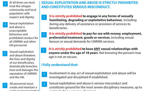 zero tolerance for sexual exploitation and abuse