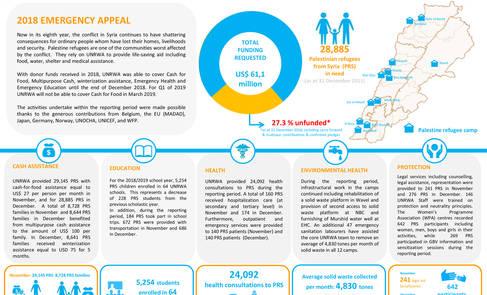 Lebanon: UNRWA Humanitarian Snapshot, November – December 2018