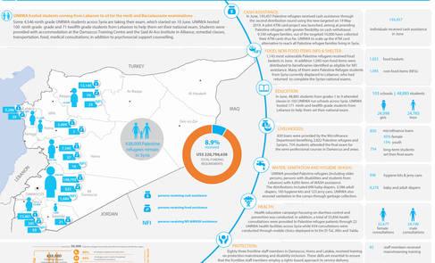 Syria: UNRWA - Humanitarian Snapshot, June 2019