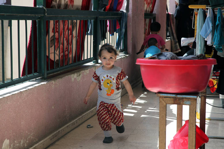 After four years of conflict, the health of Palestine refugees in Syria has been undermined by displacement and impoverishment. Overcrowded living conditions have contributed to an increase in infectious diseases. © 2015 UNRWA Photo by Taghrid Mohammad