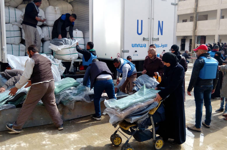 UNRWA continues to deliver aid to Palestine refugees from Yarmouk, Yalda, Babila and Beit Saham in Damascus for the second consecutive week. Yalda, Damascus. © 2016 UNRWA Photo