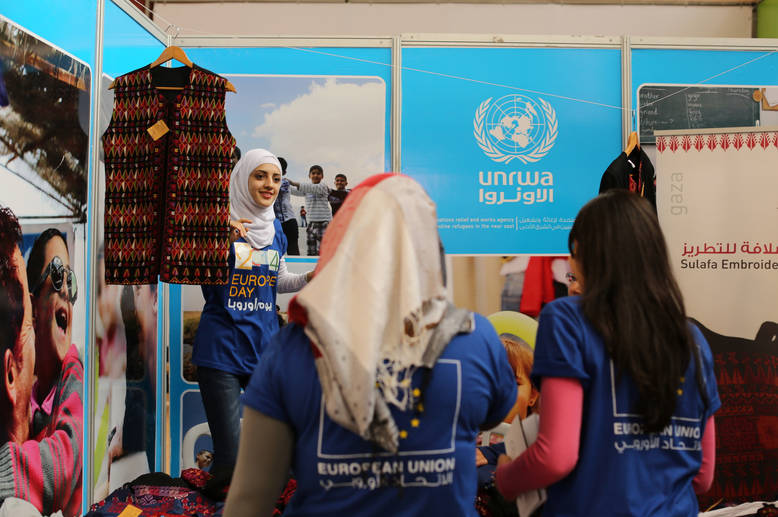 UNRWA and partners celebrate EU Day in the West Bank