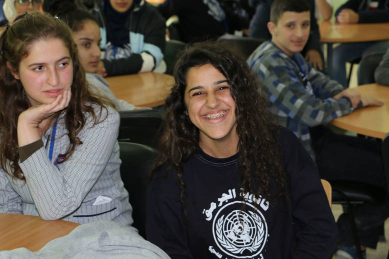 """We have taken the first step towards achieving the objectives of this day in our school, and our voice and our messages about human rights advocacy should reach the entire world,"" says Darin al-Haj, an UNRWA student at the Al-Jormok Secondary School in Bekaa, Lebanon. ""We should raise the voice of women high and help those who need to send their voice."" © 2016 UNRWA Photo by Firas Abo-Aloul"
