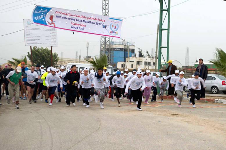 الأونروا تنظم ماراثون غزة لعام 2012