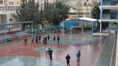 """We sometimes experience tear gas and shootings which doesn't make me feel safe,"" a student at the UNRWA Hebron H2 Boys' School says, ""I feel safe inside the school, but not all the time because of the occupation we are living under,"" adds another student."
