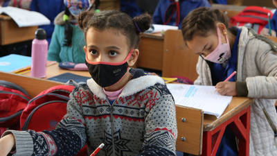 UNRWA is committed to providing quality, inclusive, and equitable education in Syria promoting the use of COVID-19 preventive measures in all of its schools. © 2020 UNRWA Photo by Taghrid Mohammad