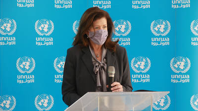 United States Ambassador to Lebanon H.E. Ms. Dorothy C. Shea on her visit to the United Nations Relief and Works Agency for Palestine Refugees in the Near East (UNRWA) Lebanon Field Office.