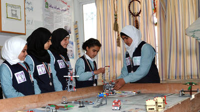 UNRWA Students Sweep Robotics Competition