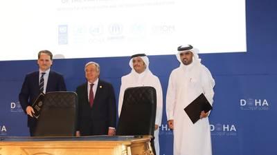 توقيع اتفاقية هامة متعددة السنوات بين صندوق قطر للتنمية والأونروا