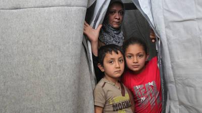 المأوى الجماعي  في جرمانا، سوريا. © الحقوق محفوظة للأونروا 2016، تصوير تغريد محمد