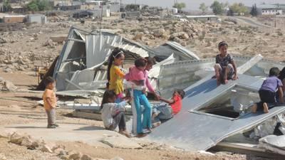 Demolition site in Um Khair. August 2016. © 2016 UNRWA Photo by Ashwaq Hasaneyeh