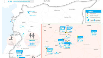 SYRIA: UNRWA - OVERVIEW OF HARD-TO-REACH AND BESIEGED AREAS AS OF 26 APRIL 2018