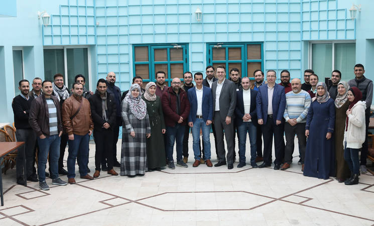 Mr. Kaan Cetinturk, UNRWA CIO and Director of Information Management and Technology Department, on a visit to the IT Service Centre in Gaza during a visit with Palestine refugee staff in February 2020. © 2020 UNRWA Photo by Mohammed Hinnawi.