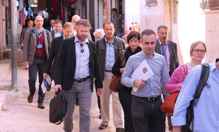 Advisory Commission members visit Jordan field