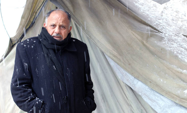 Ahmad, 71 at the UNRWA al-Kabri school collective shelter in Jaramana camp, Syria. (c) UNRWA Photo by Taghrid Mohammad