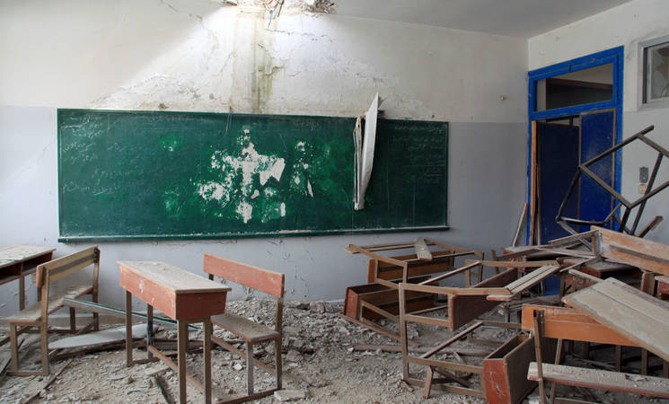 UNRWA School in Husseinieh, Damascus, February 2015. © 2015 UNRWA Photo by Taghrid Mohammad