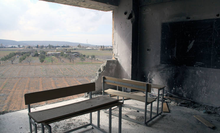 Photo Caption: UNRWA School, Husseinyeh, February 2015 Syria © 2014 UNRWA by Taghrid Mohammed