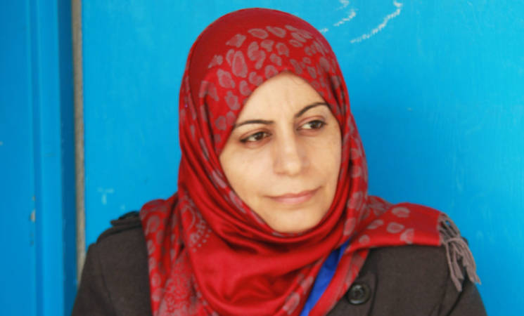 """Ms. Maisa Qudas explains the essential need for the training on inclusive education to support injured UNRWA students. """"It facilitates our mission,"""" she said. © UNRWA 2015 Photo by Nathalie Schmidhauser"""