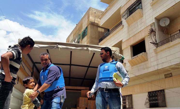 UNRWA continues humanitarian operations in Yalda, Babila and Beit Saham. © 2015 UNRWA photo