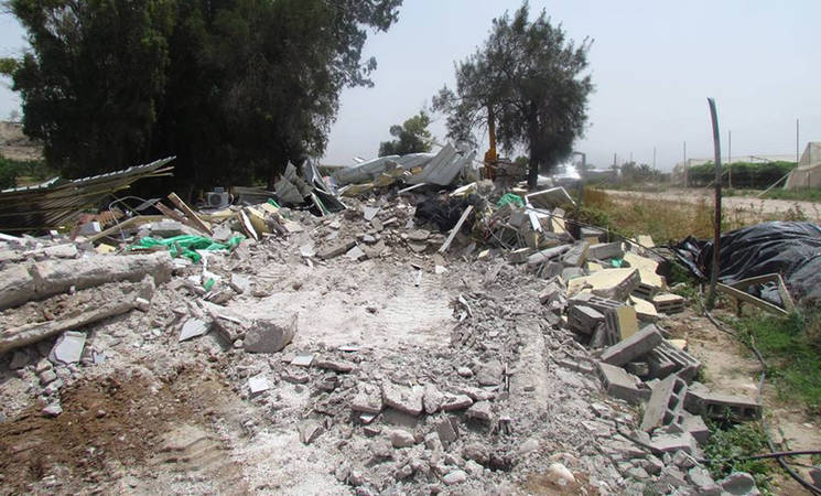 Israeli authorities demolished this residential structure in the Palestinian community of Al Jiftlik Abu Al Ajaj in Area C of the Occupied West Bank in April 2015. Photo: OCHA (file)