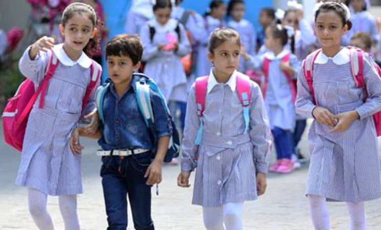 UNRWA students go back to school in Gaza, 7 September 2015. © 2015 UNRWA Photo by Khalil Adwan