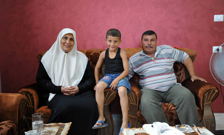 The Zaza family was able to reconstruct their home, destroyed in the 2014 summer conflict, with support from UNRWA. © 2015 UNRWA Photo by Tamer Hamam
