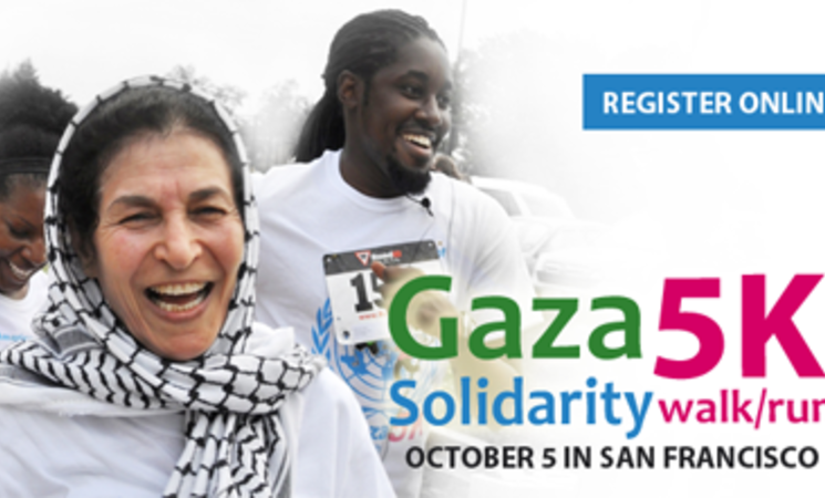 American Friends of UNRWA Organizes Gaza Solidarity 5K in San Francisco