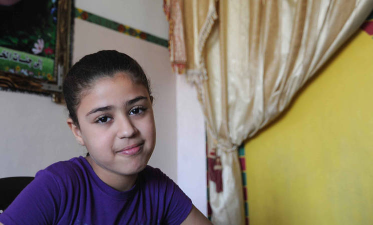 In Gaza, Young Girl Overcomes Tragedy with the Help of UNRWA