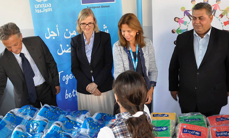 Back to School in Lebanon with UNRWA, UNICEF and EU
