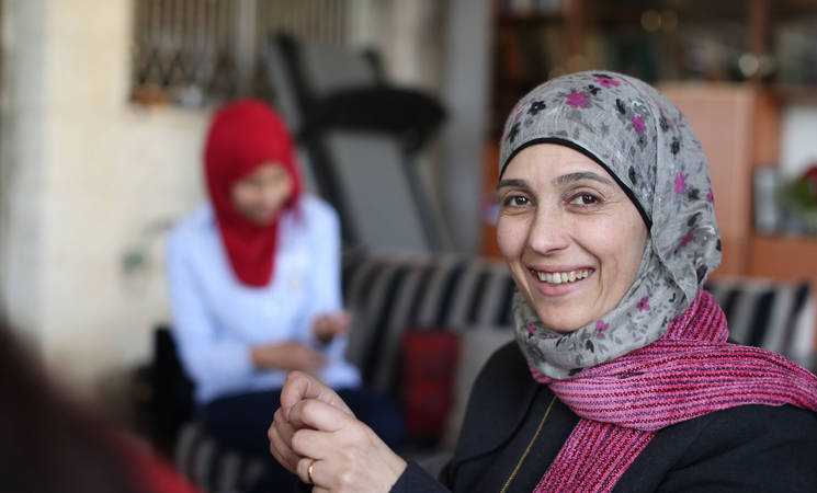 Hanan al-Hroub, originally from Dheisheh refugee camp in Bethlehem, is a second-grade teacher based in Ramallah. Her 'Play and Learn' approach to teaching has earned her a spot among the top ten finalists for the 2016 Global Teacher Prize. © 2016 UNRWA Photo by Alaa Ghosheh